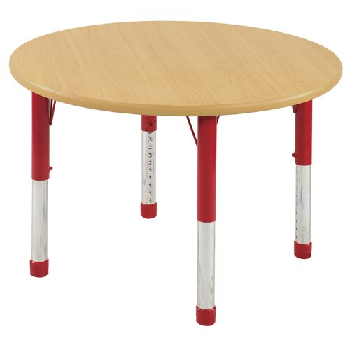 "ECR4kids 36"" Round Laminate Preschool Table in Maple"
