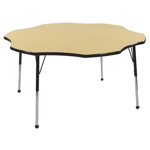 "ECR4kids 60"" Flower Shaped Adjustable Activity Table in Maple"