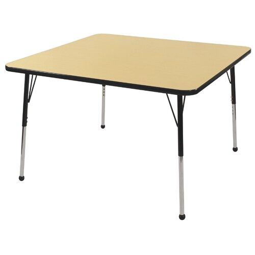 "ECR4kids 30"" Square Laminate Preschool Table in Maple"