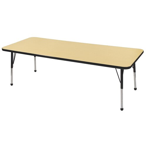 "ECR4kids 30"" x 72"" Rectangular Adjustable Activity Table in Maple"