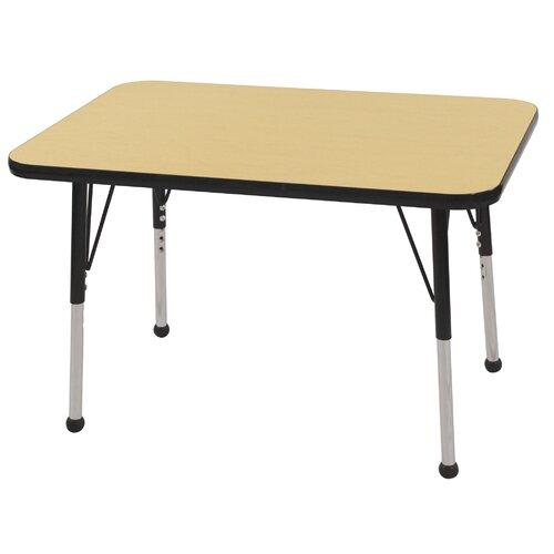 ECR4kids 24x36 Rectangular Adjustable  Activity Table in Maple