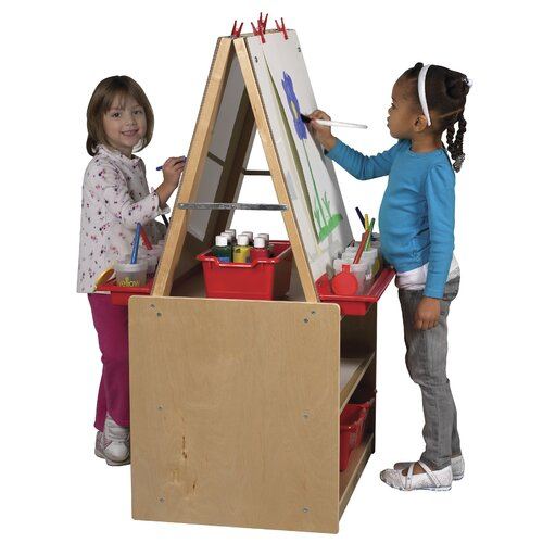 ECR4kids 2-Station Art Easel with Storage