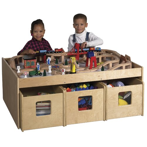 "ECR4kids See & Store™ 46"" x 33.5"" Rectangular Classroom Table"