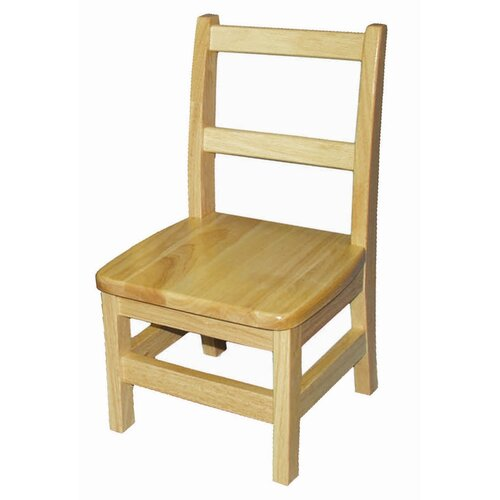 "ECR4kids 10"" Hardwood Classroom Ladderback Chair"