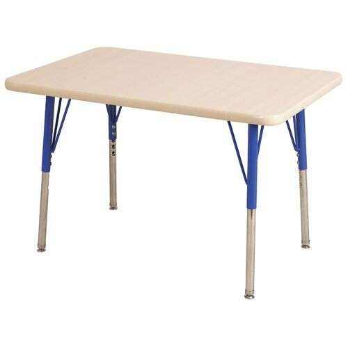 "ECR4kids 24"" x 48"" Rectangular Adjustable Activity Table in Maple"