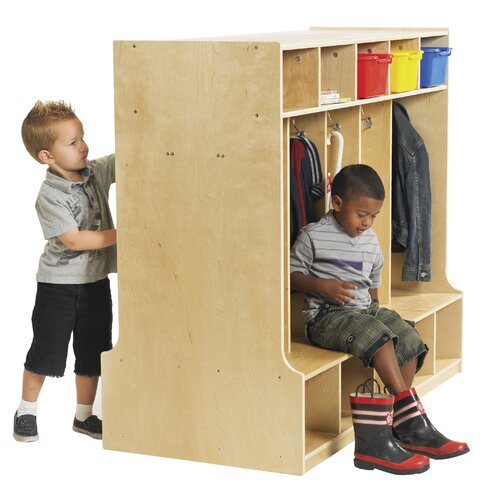 ECR4kids 5-Section Double Sided Coat Locker