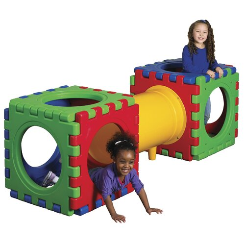 ECR4kids 13 Pieces Tunnel and Cube Set
