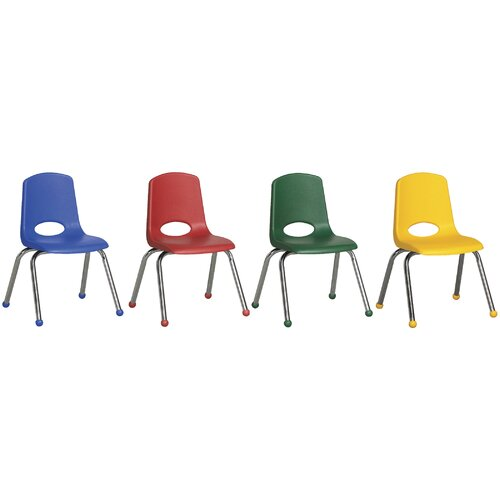 "ECR4kids 14"" Plastic Stack Chair with Chrome Legs (Set of 6)"