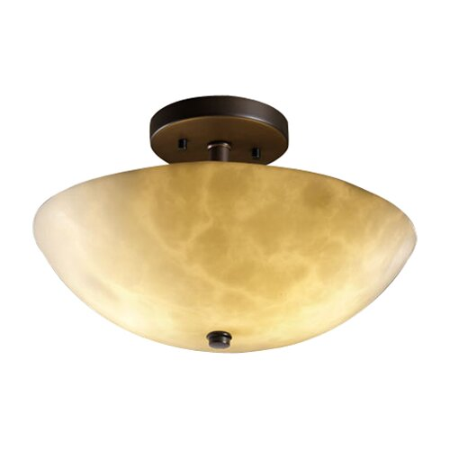 Justice Design Group Clouds Ring 2 Light Semi Flush Mount