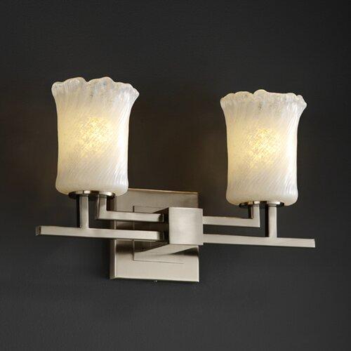 Justice Bathroom Lighting: Justice Design Group Fusion Aero 3 Light Bath Vanity Light