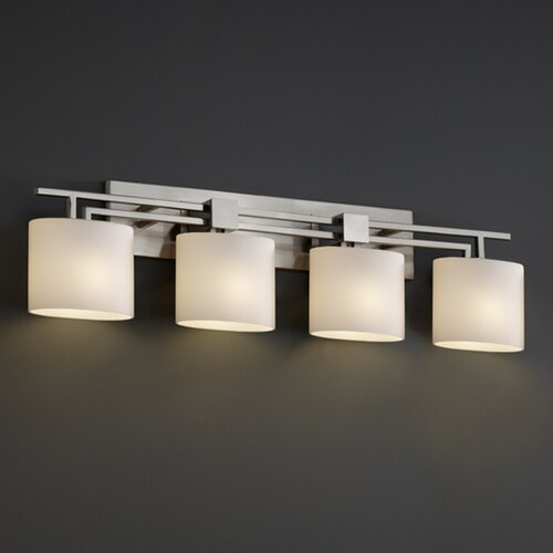 Lantern Bathroom Vanity Lights : Justice Design Group Fusion Aero 4 Light Bath Vanity Light & Reviews Wayfair
