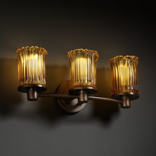 Justice Design Group Veneto Luce Rondo 3 Light Bath Vanity Light