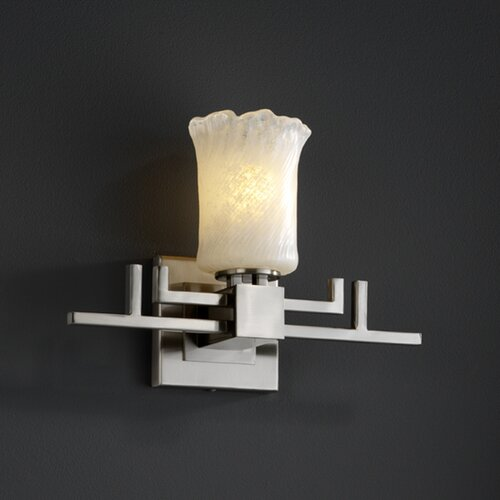 Justice Design Group Veneto Luce Aero 1 Light Wall Sconce