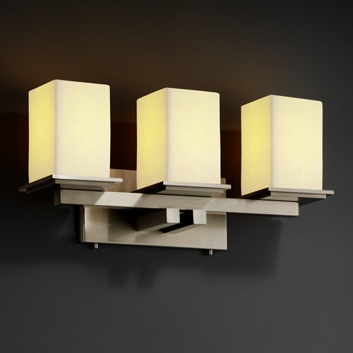 Justice Design Group CandleAria Montana 3 Light Bath Vanity Light