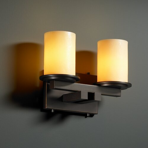 Justice Design Group CandleAria Dakota 2 Light Bath Vanity Light