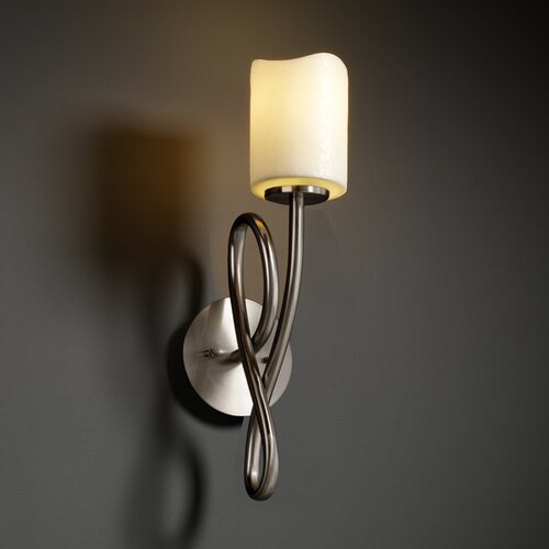 Justice Design Group CandleAria Capellini 1 Light Wall Sconce
