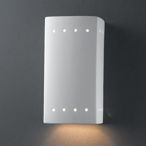 Justice Design Group Ambiance 1 Light Outdoor Wall Sconce