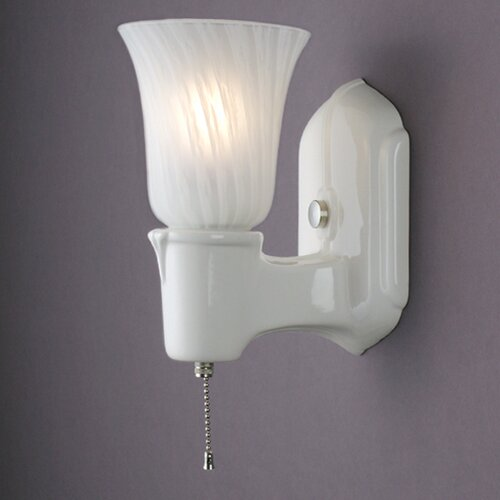 Justice Design Group American Classics Chateau Single-Arm 1 Light Wall Sconce