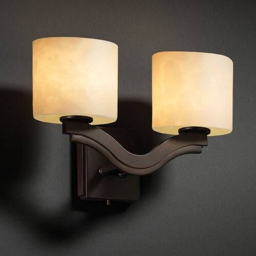 Justice Design Group Bend Clouds Two Light Wall Sconce