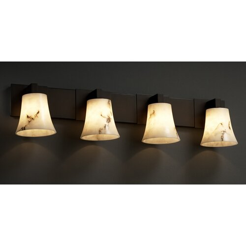 Justice Design Group Modular LumenAria 4 Light Bath Vanity Light