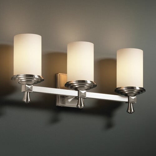 Justice Design Group Deco Fusion 3 Light Bath Vanity Light