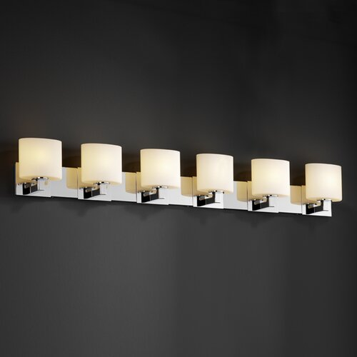 Justice Design Group Modular Fusion 6 Light Bath Vanity Light