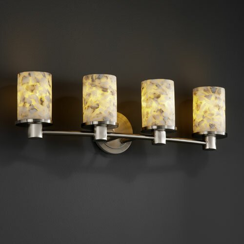 Justice Design Group Alabaster Rocks Rondo 4 Light Bath Vanity Light