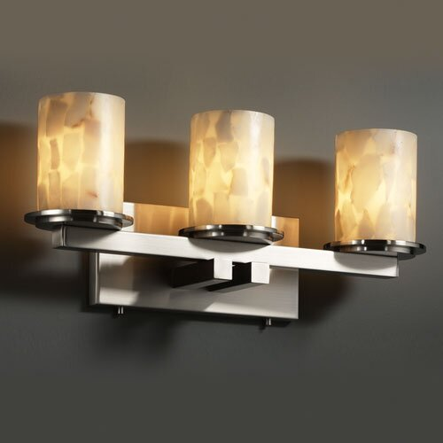 Justice Design Group Alabaster Rocks Dakota 3 Light Bath Vanity Light
