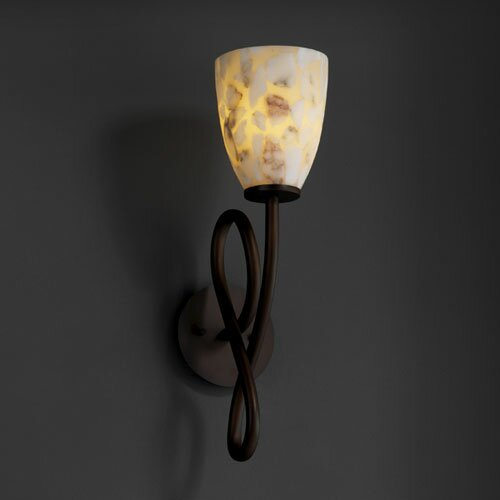 Justice Design Group Alabaster Rocks Capellini 1 Light Wall Sconce