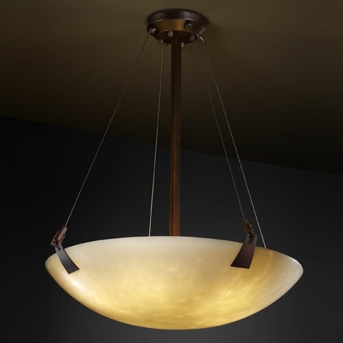 Justice Design Group Clouds 3 Light Inverted Pendant