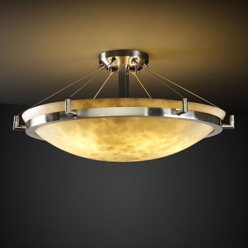 Justice Design Group Clouds Ring Round Semi Flush Mount