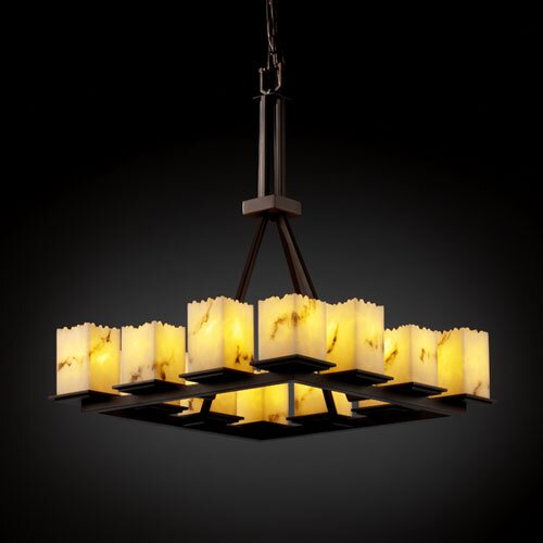 Justice Design Group LumenAria Montana 12 Light Chandelier with Additional Chain