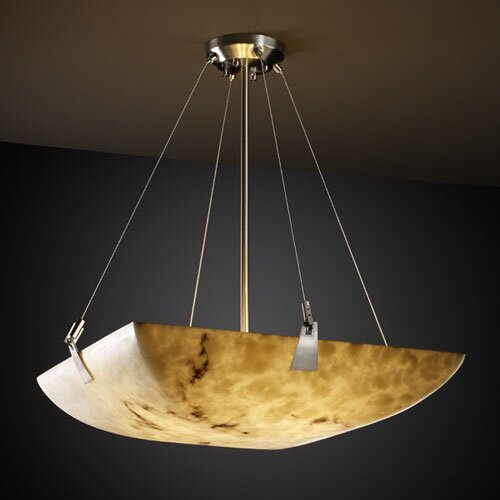 Justice Design Group LumenAria 3 Light Inverted Pendant