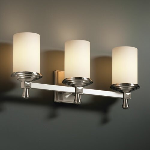 Justice Design Group Fusion Deco 3 Light Bath Vanity Light