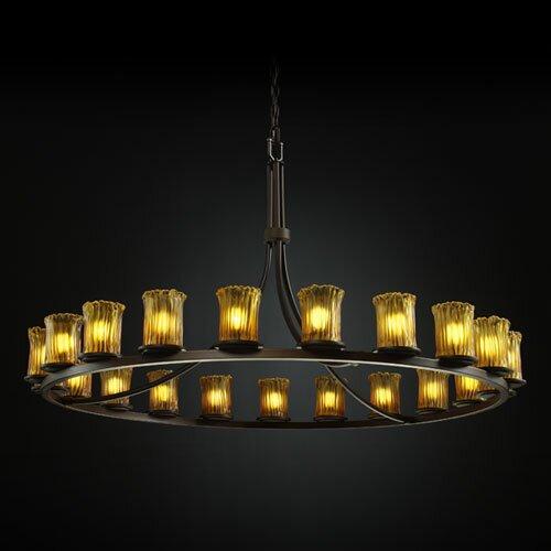 Justice Design Group Veneto Luce Dakota 21 Light Chandelier with Additional Chain