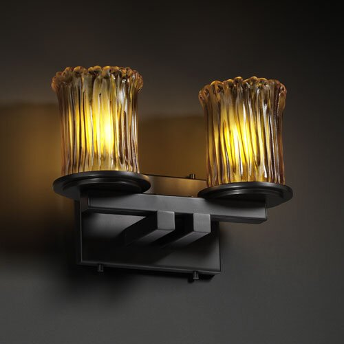Justice Design Group Veneto Luce Dakota 2 Light Bath Vanity Light