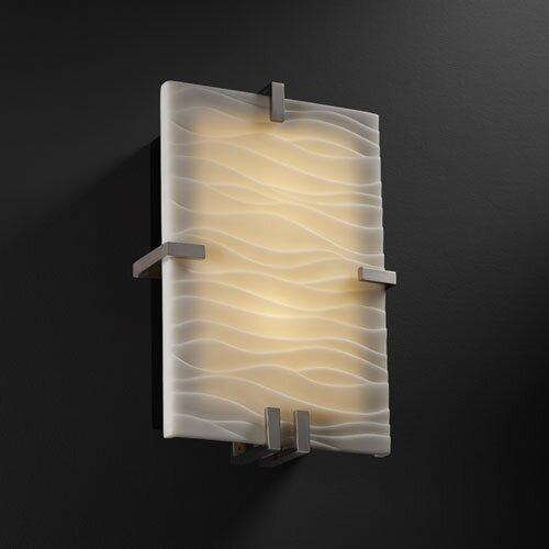 Justice Design Group Porcelina Clips 2 Light Wall Sconce