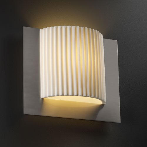 Justice Design Group Porcelina Framed ADA 1 Light Wall Sconce
