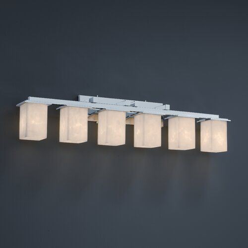 Justice Design Group Montana Clouds 6 Light Bath Vanity Light