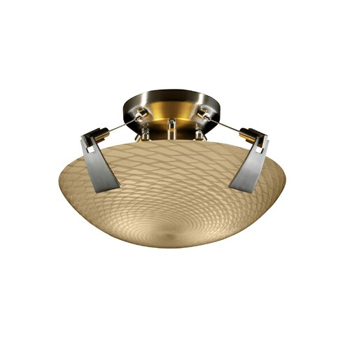 Justice Design Group Tapered Clips Fusion 2 Light Semi Flush Mount