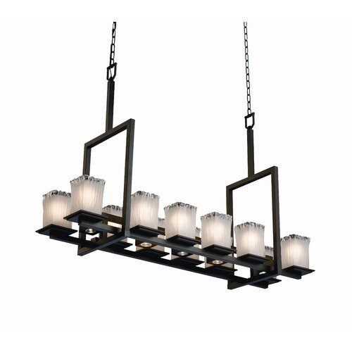 Montana Veneto Luce 12-Up and 5-Down Light Tall Bridge Chandelier