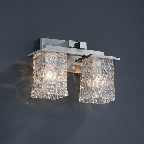 Justice Design Group Montana Veneto Luce 2 Light Bath Vanity Light