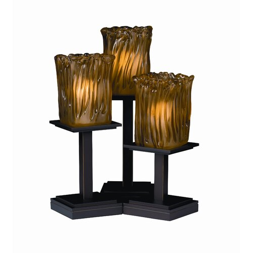 """Justice Design Group Montana Veneto Luce 16.75"""" H Table Lamp with Square Shade"""