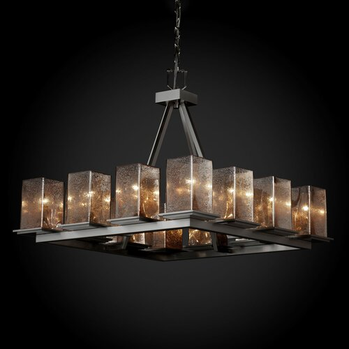 Fusion Montana 12 Light Ring Short Chandelier