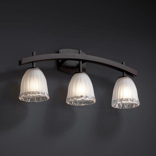 Justice Design Group Archway 3 Light  Bath Vanity Light