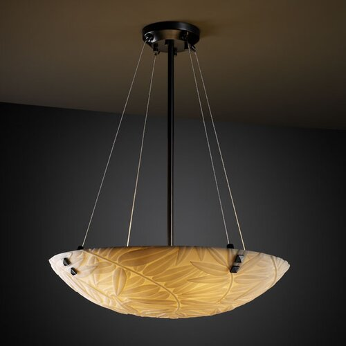 Justice Design Group Porcelina 6 Light Inverted Pendant