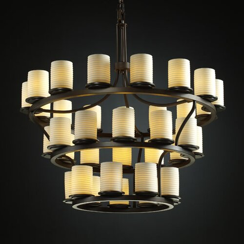 Justice Design Group Limoges Dakota 36 Light Chandelier