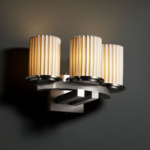 Justice Design Group Limoges Dakota 3 Light Wall Sconce