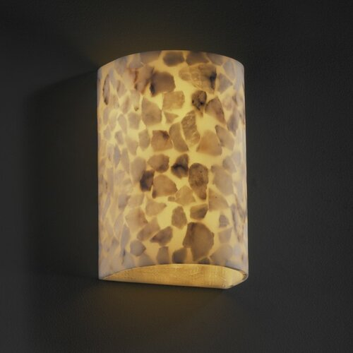 Justice Design Group Alabaster Rocks Two Light Wall Sconce with Mounting Center