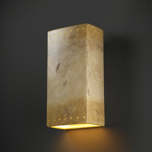 Justice Design Group Ambiance Big Rectangular 1 Light Outdoor Wall Sconce